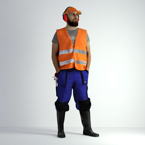 3d scan man worker safety 018 3d model max obj fbx mtl 1