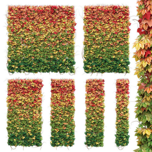 wall from autumn leaves set of 6 models 3d model max obj mtl fbx unitypackage prefab 1