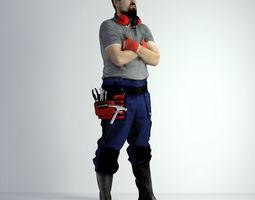 man 3D Scan Man Worker Safety 019