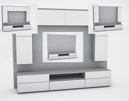 3D model TV wall