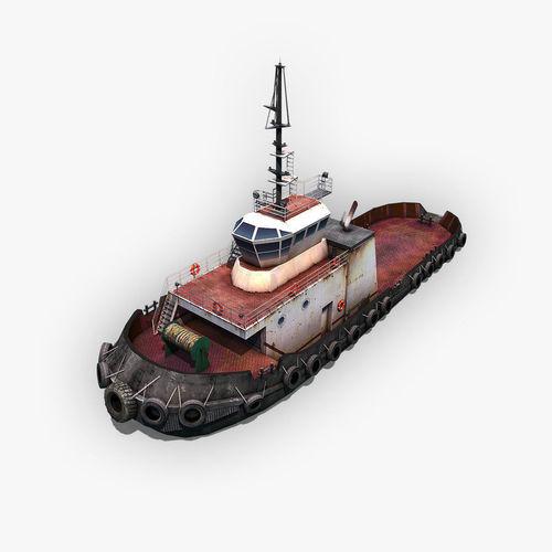 tugboat 3d model max obj mtl 3ds fbx c4d dae 1