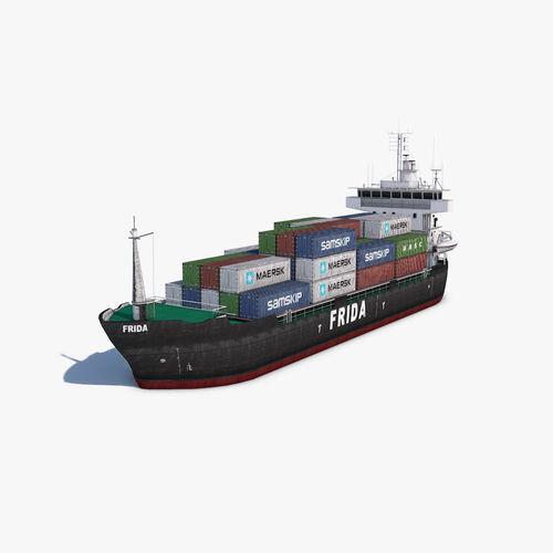cargo ship 3d model max 3ds fbx c4d dae 1