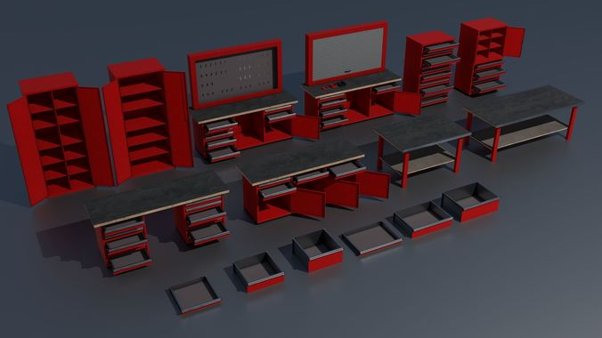 Workshop PBR closets benches boxes and tables