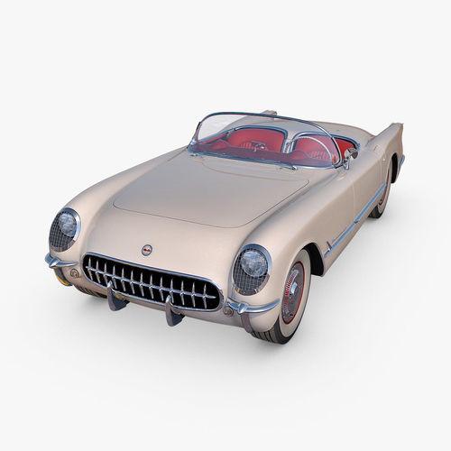 chevrolet corvette 1953 3d model max fbx c4d dae 1
