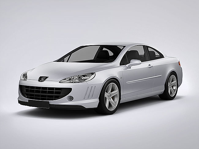 peugeot 407 coupe 2013 3d cgtrader. Black Bedroom Furniture Sets. Home Design Ideas