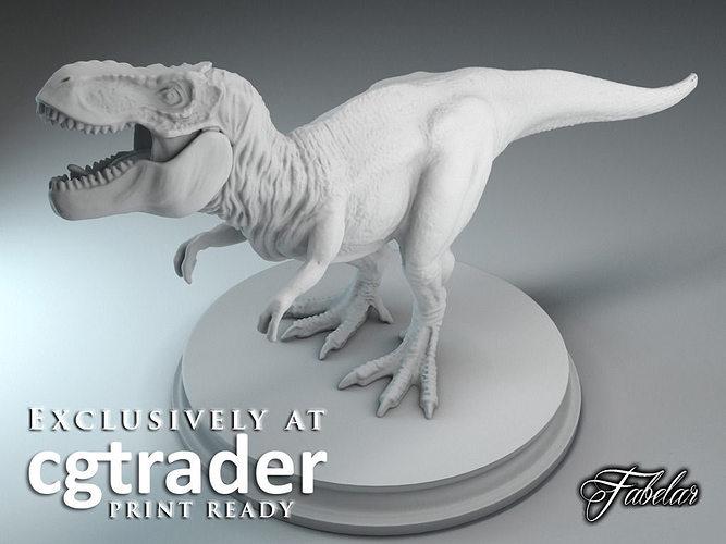 Tyrannosaurus Rex Print Ready 3d Model Stl 2