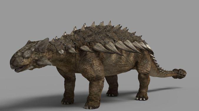 ankylosaurus 3d model low-poly max obj ztl mtl tga 1