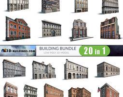 Building Facades BUNDLE2 3D asset