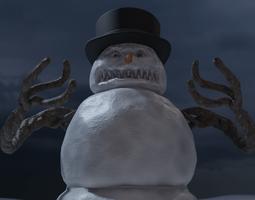 Bad Scary Snowman 3D model