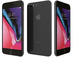 3D Apple iPhone 8 Plus Space Gray