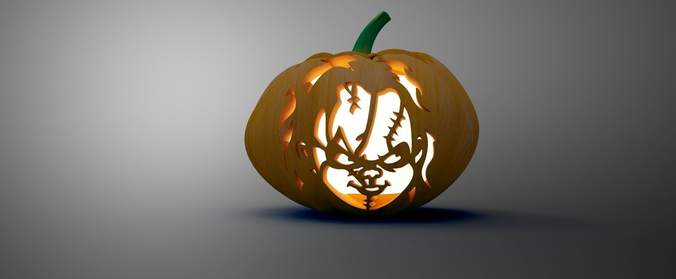 halloween pumpkin  3d model low-poly max obj mtl 3ds fbx ma mb stl 1