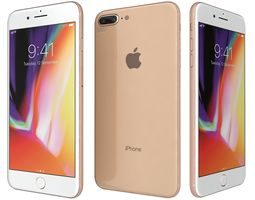 s8 3D Apple iPhone 8 Plus Gold