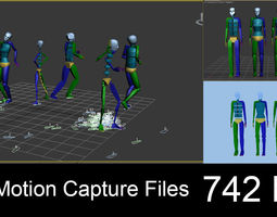 742 Motion Capture Files 3D