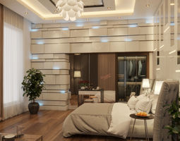 modern Master Bedroom 3D model