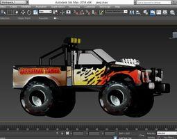 pickup jeep 3D model