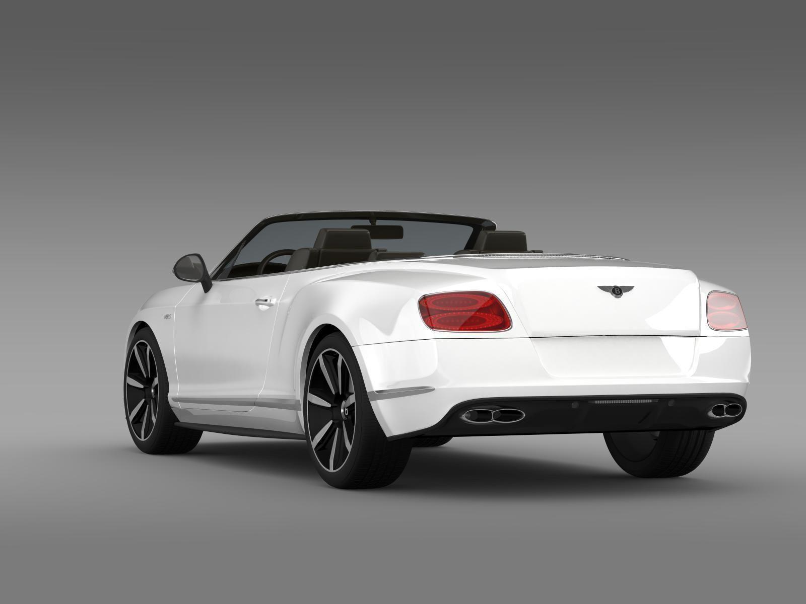 ... Bentley Continental Gt V8 S Convertible 2014 3d Model Max Obj 3ds Fbx  C4d Lwo Lw ...
