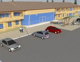 animated Highlander hotel 3d model