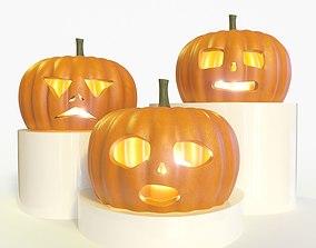 Halloween pumpkin collection 3D model
