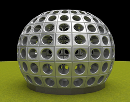 Perforated dome architecture engineering structure 3D