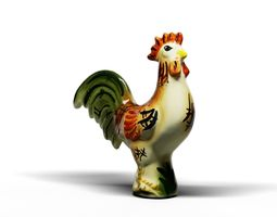 3D Colorful rooster