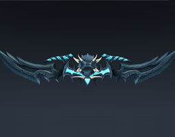 3D model Double bladed sword or Bow