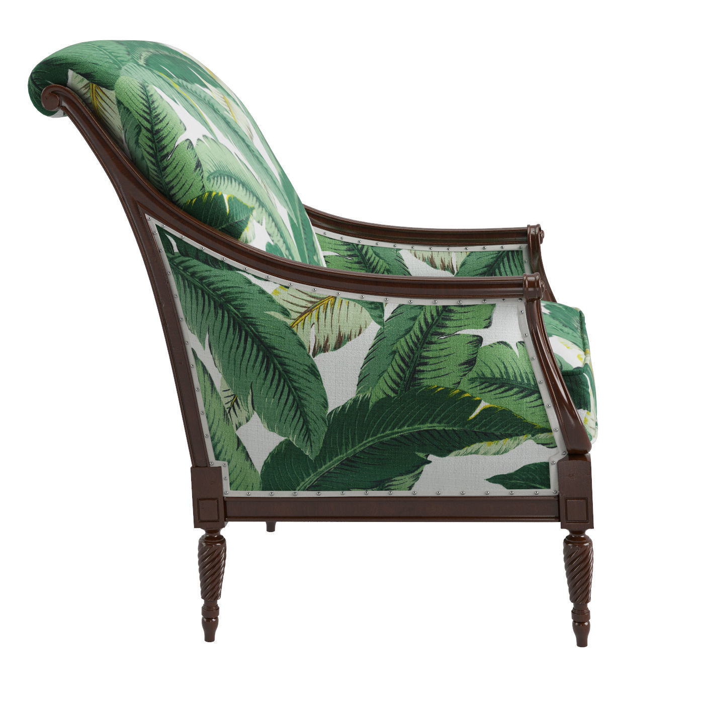 ... Harwood Accent Chair   Palm Leaf 3d Model Max Fbx 3 ...