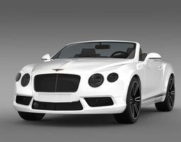 bentley continental gtc v8 2013 3d model max obj 3ds fbx c4d lwo lw lws