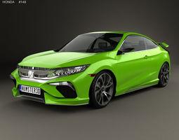 Honda Civic coupe Concept 2015 3D