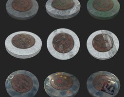 LOW POLY Russian-USSR sewer 1972 PBR LOD 3D asset