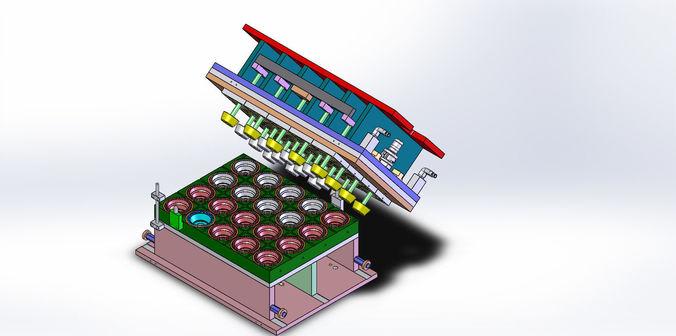 thermoform mold - plate mold 3d model sldprt sldasm slddrw 1
