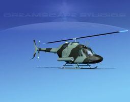 Bell OH-58B Covert 1 3D model
