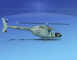 Bell OH-58B US Marines 3D model