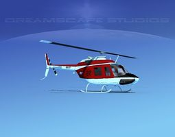 3D model Bell OH-58B US Navy 1