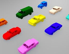 9 city vehicles 3D model