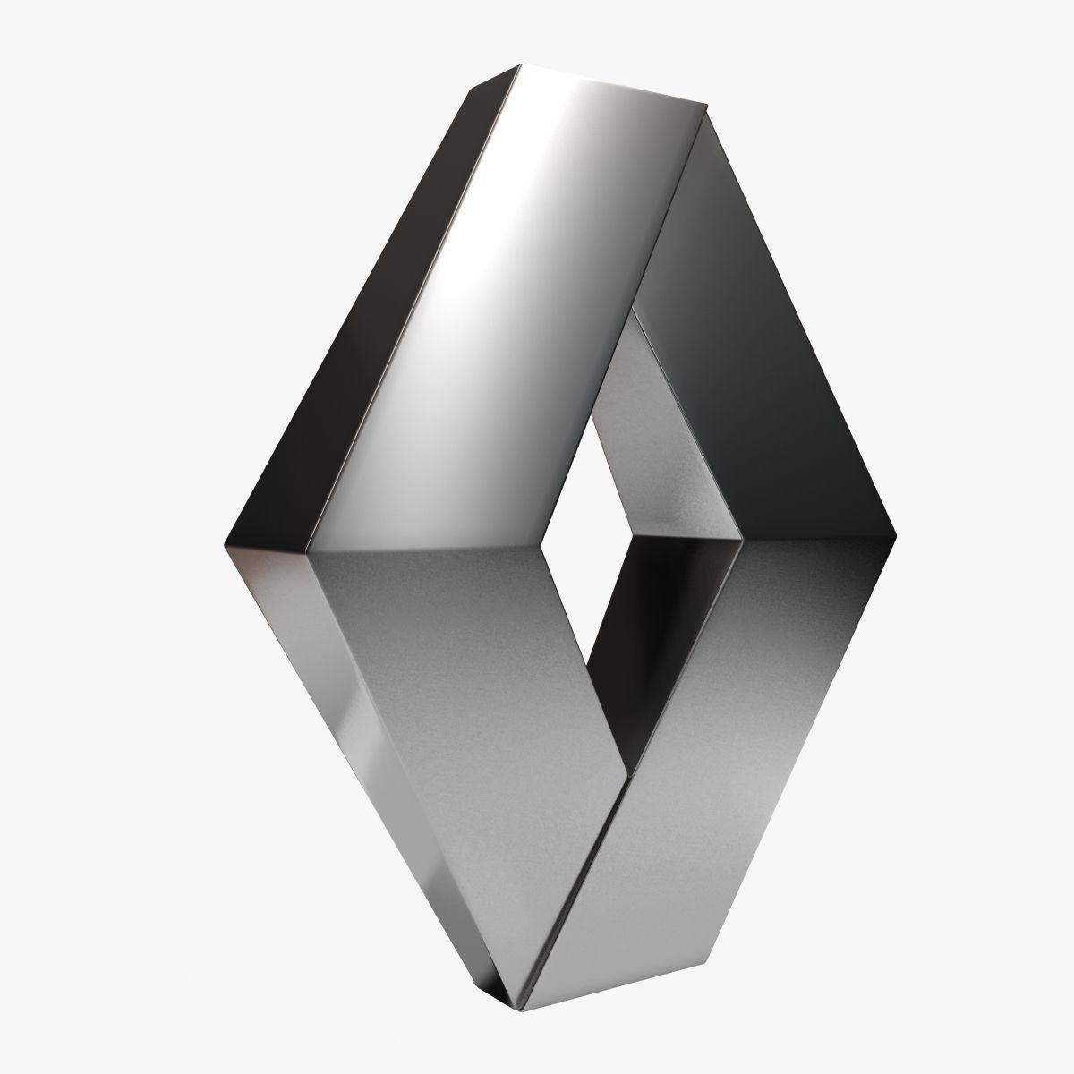 Renault Logo: Renault Logo 3D Model .max .obj .3ds .fbx