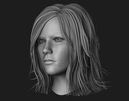 Female Head Sculpt 11 3D model