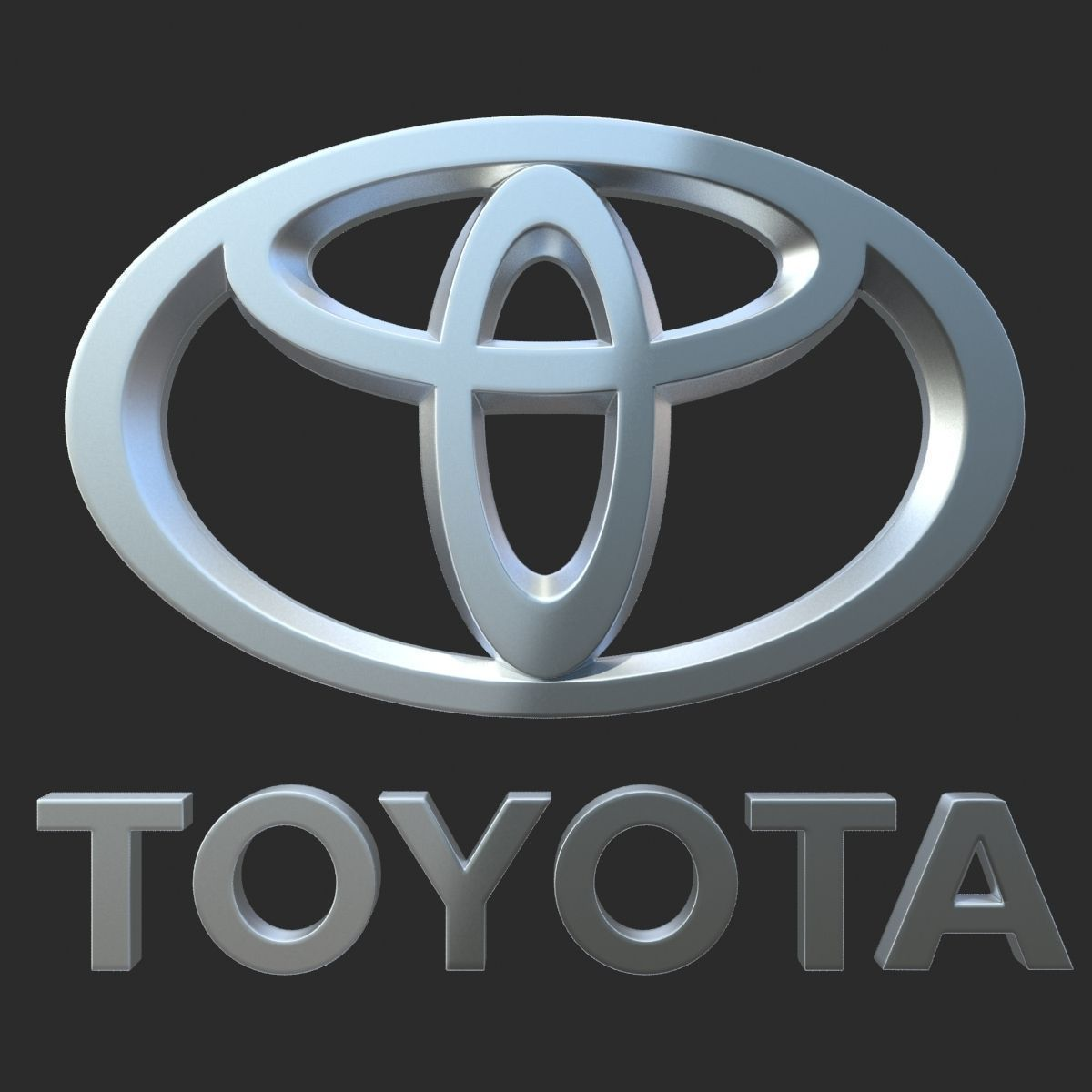 Polygonal House Logo: Toyota Logo 3D Model .max .obj .3ds .fbx