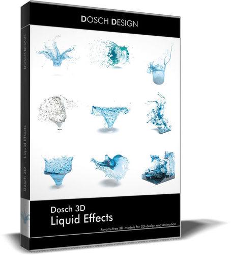 dosch 3d - liquid effects 3d model max obj 3ds fbx c4d lwo lw lws 1