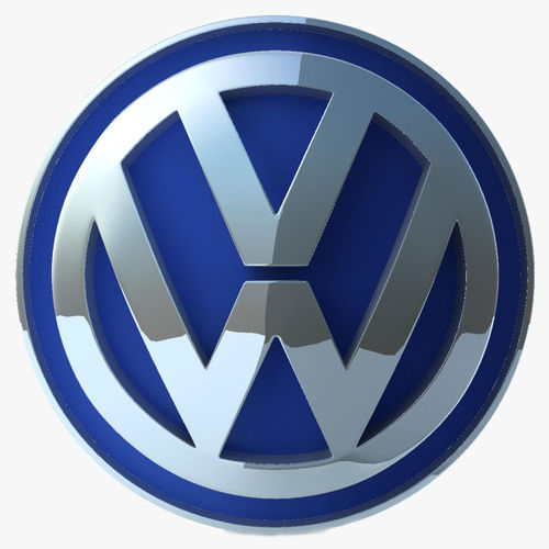 volkswagen logo 3d model max obj 3ds fbx. Black Bedroom Furniture Sets. Home Design Ideas