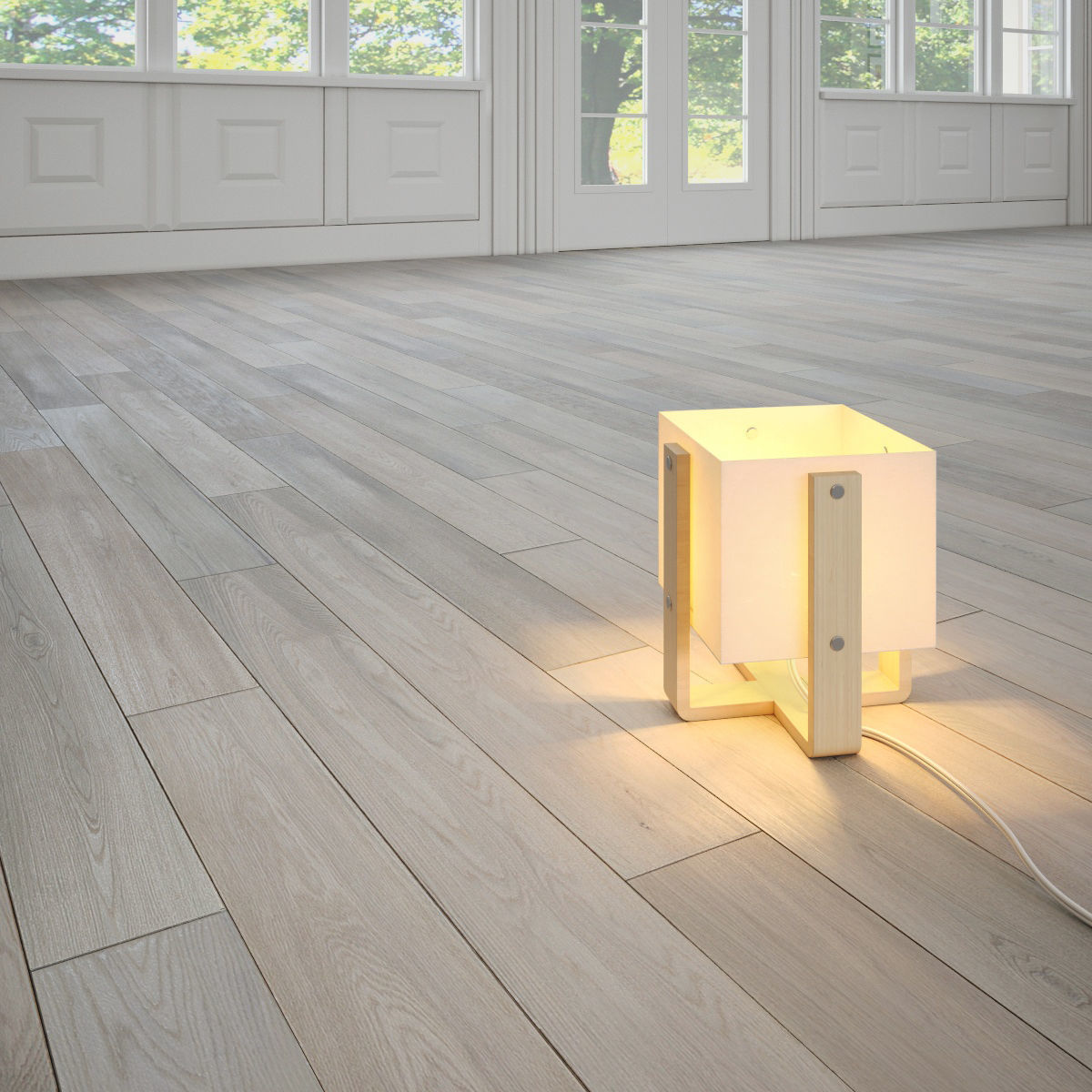 Vernal Antique White Wooden Floor By