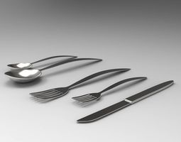 3D asset realtime Cutlery