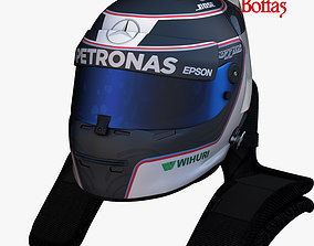 Bottas helmet 2017 3D asset