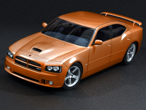 dodge charger 2005 srt8 3d model max 3ds. Black Bedroom Furniture Sets. Home Design Ideas