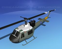 Bell UH-1B Iroquois China 3D