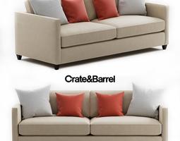3D Crate and Barrel Dryden Sofa