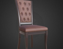 3D asset realtime biedermeier-leather-classic-chair