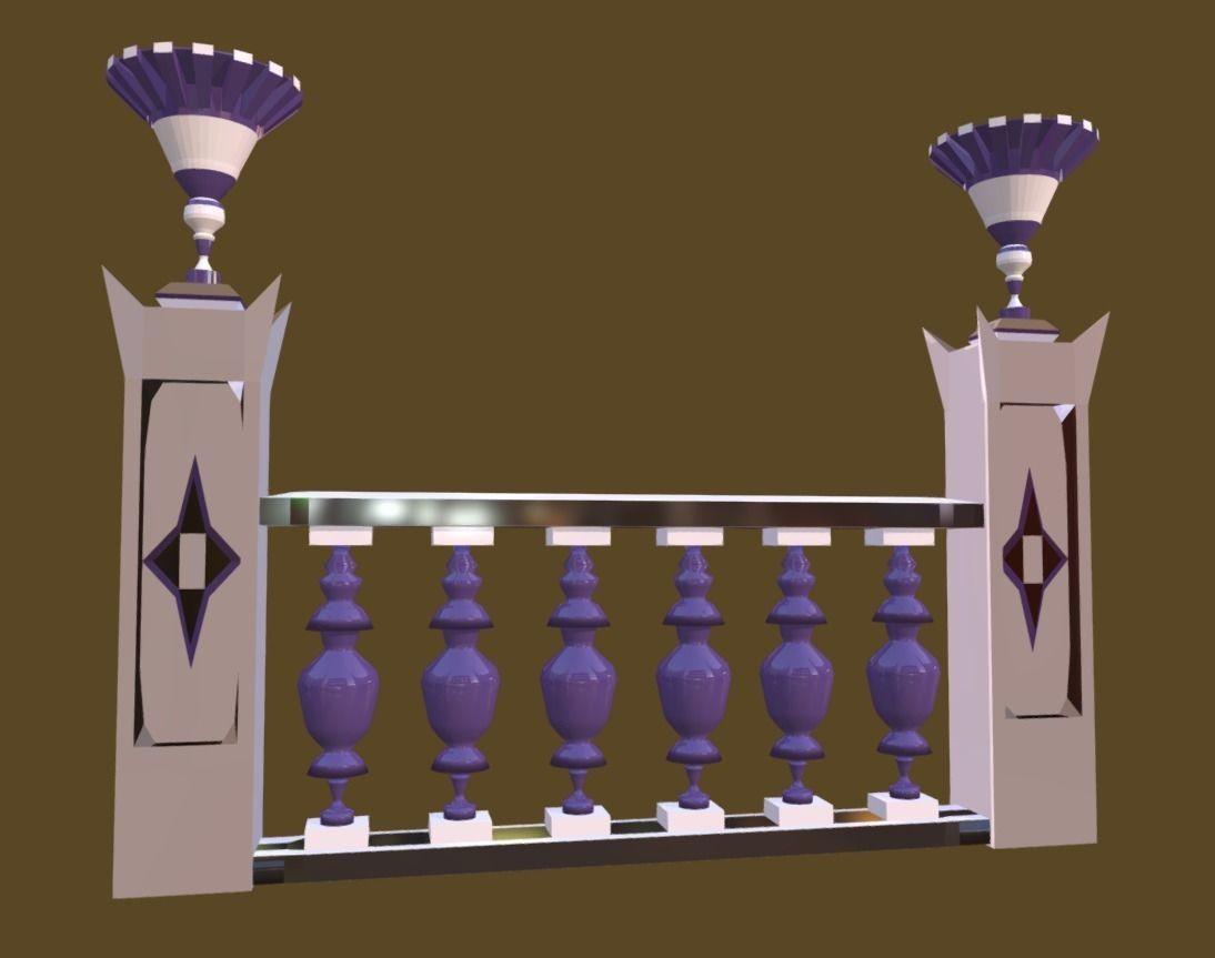 Balustrade Violaceous Palace Decor Baroque - 3