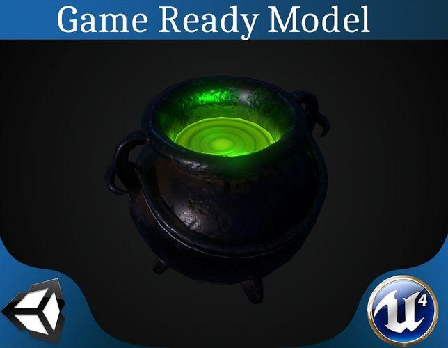 pot with magic potion 3d model obj mtl 3ds fbx blend dae X 1
