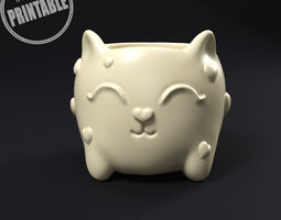 Cat plant pot 3D printable model