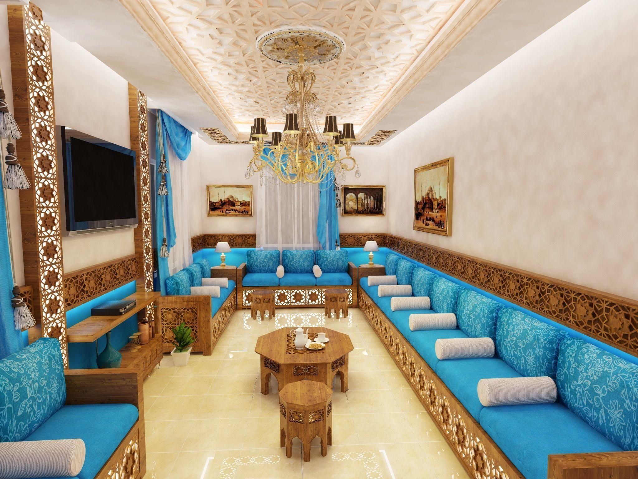 3D Moderne Marocain LIVING ROOM | CGTrader